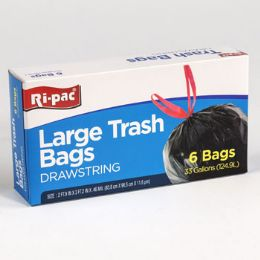 24 Bulk Trash Bags 6ct - 33gal