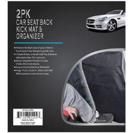 12 Bulk Car Seat Back Kick Mat 2pk