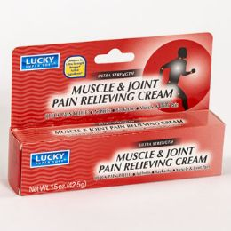 24 Bulk Lucky Muscle And Joint Pain Relief 1.5oz Boxed