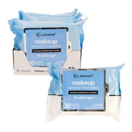 12 Bulk Facial Wipes 30ct Makeup Remover Clarisse In 6pc Pdq