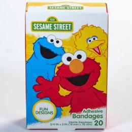 24 Bulk Bandages 20ct Sesame Street Boxed