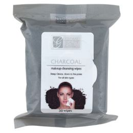 24 Bulk Facial Wipes 30ct Charcoal Makeup Cleansing In 24pc Pdq