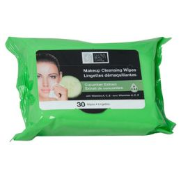 48 Bulk Facial Wipes 30ct Cucumber Makeup Cleansing 4-12pc Pdq