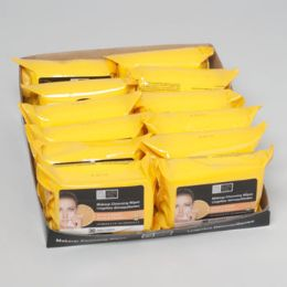 48 Bulk Facial Wipes 30ct Vitamin C Makeup Cleansing 4-12pc Pdq
