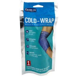 24 Bulk ColD-Wrap Elastic Bandage With Clips Muscle & Joint Coralite