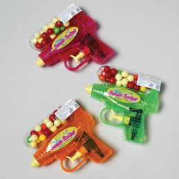 72 Bulk Gumball Filled Water Gun 3 Asst Sweet Soaker 72pc Floor Display