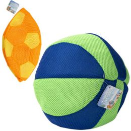 24 Bulk Inflatable Soccer/beach Ball Mesh Covered Rubber 10in 2ast