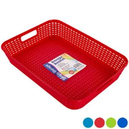 48 Bulk Tray/basket Rect 4 Colors In Pdq