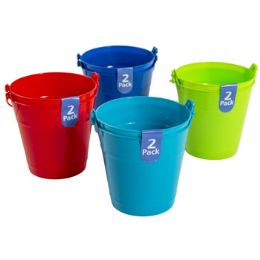48 Bulk Bucket 2pk Plastic W/handle