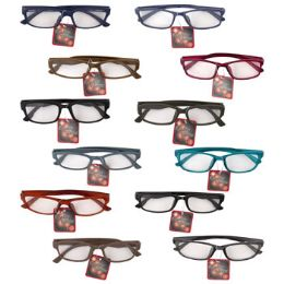 12 Bulk Reading Glasses Refill +3.25 Asst StyleS-More Strengths Avail