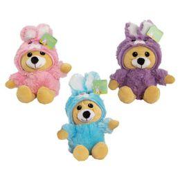 24 Bulk Plush Stuffed Easter Bear 13in