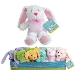 36 Bulk Plush Easter Bunny 9in 6asst