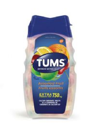 12 Bulk Tums 8 Ct Chewable Tablet Extra Assorted Fruit