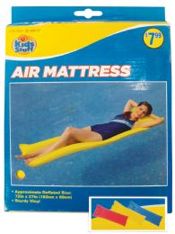 12 Bulk Pool Floater Air Mattress 72 X 27 Inch Assorted Colors