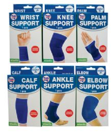 48 Bulk Elastic Bandages 6 Assorted One Size Fits All (ankle Support/ Calf Support/ Elbow Support/ Knee Support/ Palm Support And Wrist Support)