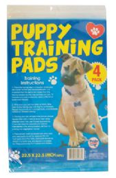 24 Bulk Puppy Training Pads 4pk 22.5 X 22.5 Inches
