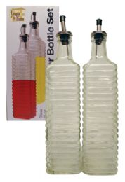 12 Bulk Glass Oil/vinegar Set 2 Pc 16 oz