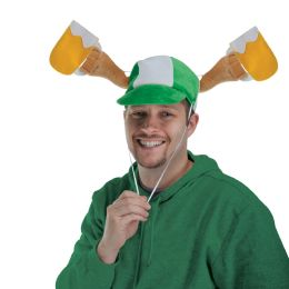 6 Bulk Plush St Patrick's Day Mugs Cap activate arms w/drawstring; one size fits most