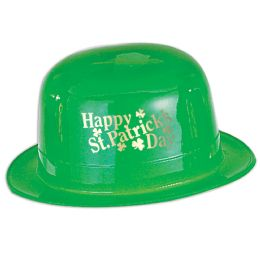 48 Bulk Plastic Happy St Patrick's Day Derby one size fits most