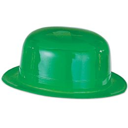 48 Bulk Green Plastic Derby one size fits most