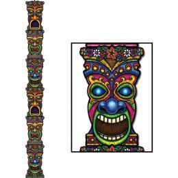 12 Bulk Jointed Tiki Totem Pole Prtd 2 Sides