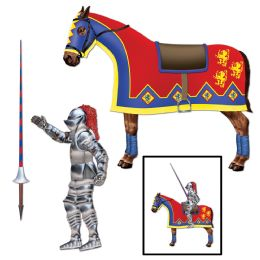 12 Bulk Jointed Jouster horse & lance cutouts included