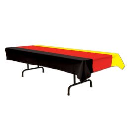 12 Bulk German Tablecover Black, Red, Yellow; Plastic
