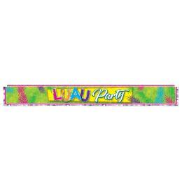 12 Bulk Metallic Luau Party Fringe Banner prtd 1-ply PVC fringe