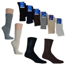 36 Bulk Knit Crew Diabetic Socks - Custom Assortment
