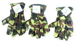 60 Bulk Men's Camouflage Fleece Gloves