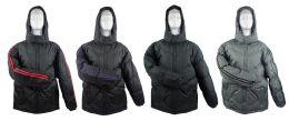 14 Bulk Men's Winter Bubble Ski Jackets W/ Hood - Choose Your Color(s)