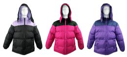 12 Bulk Women's Winter Bubble Ski Jackets W/ Detachable Hood
