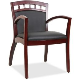 Bulk Lorell Crowning Accent Wood Guest Chair