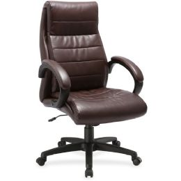 Bulk Lorell Deluxe HigH-Back Leather Chair