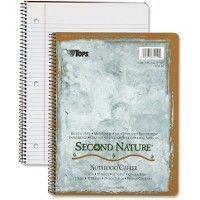 Bulk Tops CollegE-Ruled Second Nature Notebook
