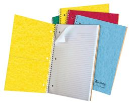"24 Bulk Tops Earthwise 1 Subject Notebook, College Rule, 11"" X 8 7/8"", Assorted Covers, White, 100 Sheets"