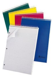 "48 Bulk Tops Earthwise 1 Subject Top Open Notebook, 11 3/4"" X 8 1/2"", Assorted Colors, College Ruled, 80 Sheets"