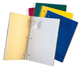 "24 Bulk Tops Earthwise 3 Subject Notebook, College Rule, 11"" X 8 1/2"", Assorted Covers, White, 150 Sheets"