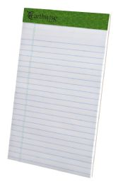 "12 Bulk Tops Earthwise Recycled Writing Pad, Narrow Ruled, 5"" X 8"", White"