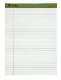 "6 Bulk Tops Earthwise Recycled Writing Pad, Wide Ruled, 8 1/2"" X 11 3/4"", White"