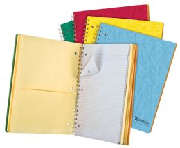 "20 Bulk Tops Earthwise By Oxford 5 Subject Notebook, 11"" X 8 7/8"", 200 Sheets, College Ruled, Assorted Colors"