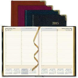 15 Bulk Rediform Aristo BondeD-Leather Executive Daily Planner