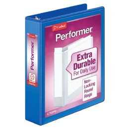"12 Bulk Cardinal Performer Clearvue Round Ring Binder, 1.5"" Blue"
