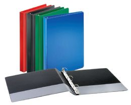 "12 Bulk Cardinal Performer NoN-Locking Round Ring Binder, 1"" Assorted Colors"