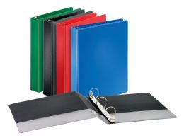 "12 Bulk Cardinal Performer NoN-Locking Round Ring Binder, 1.5"" Assorted Colors"