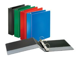 "12 Bulk Cardinal Performer NoN-Locking Round Ring Binder, 2"" Assorted Colors"