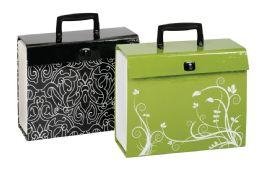 4 Bulk Case File, 19 Pockets, Letter Size, Fashion 4-Color Prints