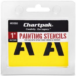 Bulk Chartpak Painting Letters & Numbers Stencil