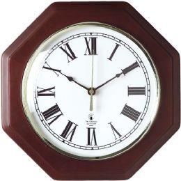 Bulk Chicago Lighthouse Octagon Mahogany Frame Clock