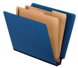 "5 Bulk Classification Folder - End Tab, 2 Divider, 2"" Bonded, Ltr, Dark Blue, 10/bx"